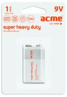 Батарейки ACME Крона 9V Super Heavy Duty 6F22 (цена за 1 шт.)