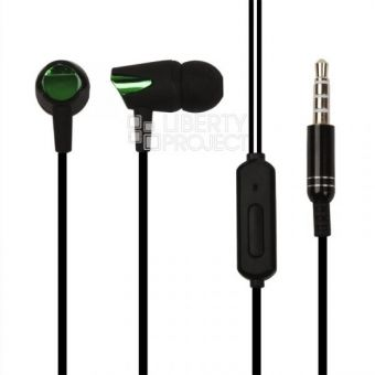 Гарнитура Sony BJ-401 (черная с зеленым/коробка)