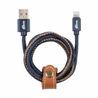 Кабель Ritmix RCC-427 USB - Apple 8pin lightning 1м оплетка из джинсовой ткани