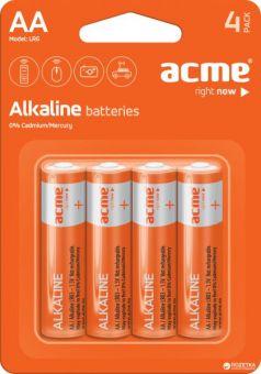Батарейки ACME AA Alkaline LR6 (цена за 4 шт.)