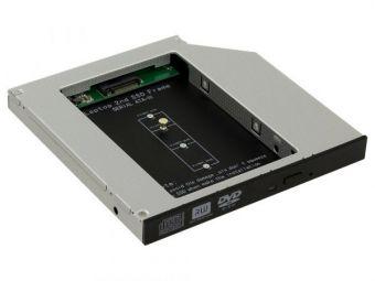 Адаптер оптибей Gembird 9,5 mm SATA/miniSATA для подключения SSD M.2