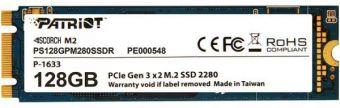 Твердотельный накопитель Patriot SCORCH PCI-e x2 128 Gb PS128GPM280SSDR