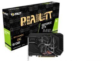 Видеокарта PALIT GeForce GTX 1660 Ti StormX OC 6Гб GDDR6 (NE6166TS18J9-161F)