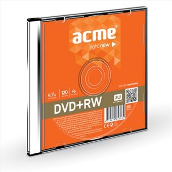 Диск DVD-RW ACME / 4,7Gb/120мин/4X / slim box