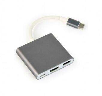 Мультимедийный разветвитель Gembird A-CM-HDMIF-02-MX USB type C
