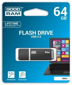 Накопитель USB3.0 Flash 64Гб GOODRAM UMO2 (UMO2-0640E0R11)