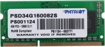 Оперативная память DDR3 SODIMM 4Gb 1600MHz 1.5V Patriot  PSD34G160081S