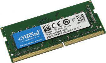 Оперативная память DDR4 SODIMM 8Gb 2400MHz Crucial CT8G4SFS824A