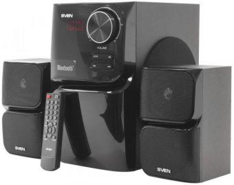 Колонки 2.1 SVEN MS-305 / 40W / USB+SD+BT+FM / ПДУ / дерево-пластик / black