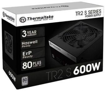 Блок питания Thermaltake ATX  600W TR2 S 600W 80 PLUS APFC, 120mm fan, RTL