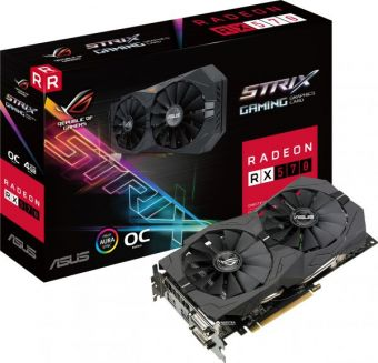 Видеокарта ASUS ROG Strix AMD Radeon RX 570 4Гб GDDR5 256-bit (ROG-STRIX-RX570-4G-GAMING)
