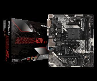 Материнская плата ASRock AB350M-HDV R4.0 (AM4)
