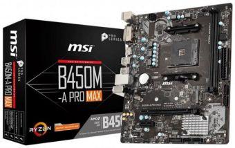 Материнская плата MSI B450M-A PRO MAX AM4
