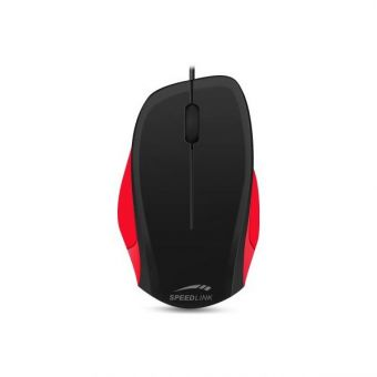 Мышь SPEEDLINK LEDGY black-red