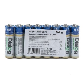 Элемент питания Батарейка Dialog AA (упаковка 8 шт.)