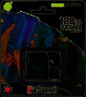 Карта памяти microSDXC 128Гб class10 UHS-I Kingston (SDCS2/128GB)