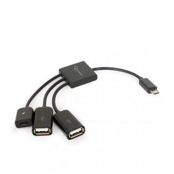 Кабель USB GEMBIRD OTG mobile HUB UHB-OTG-02