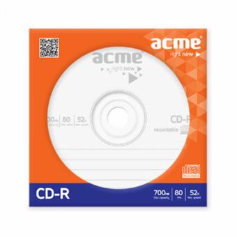 Диск CD-R ACME / 700Mb/80мин/52X / бумажный конверт [036322]