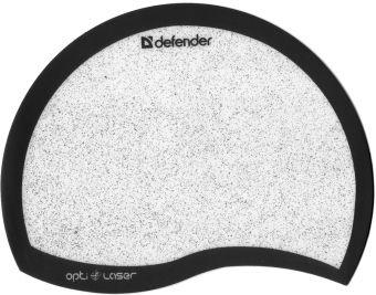 Коврик для мыши серебристый с чёрным бортиком, Defender (50511)