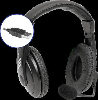 Наушники с микрофоном Defender Gryphon 750U (USB) 63752
