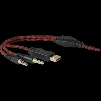 Наушники с микрофоном Redragon Inferno (2x3pin + USB) 64216