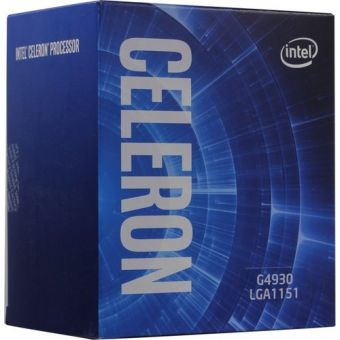 Процессор Intel Celeron G4930 BOX (3,2 ГГц, 2C/2T, LGA1151 v2) BX80684G4930