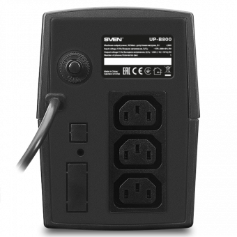 ИБП SVEN UP-B800 (800VA/390W, 3 IEC) SV-018719