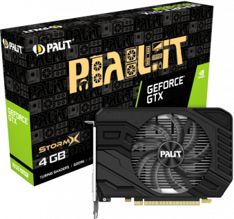 Видеокарта PALIT GeForce GTX 1650 SUPER StormX OC 4 Гб GDDR6 (NE6165S018G1-166F)