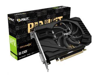 Видеокарта GeForce RTX 2060 STORMX PALIT 6Gb GDDR6 (NE62060018J9-161F)