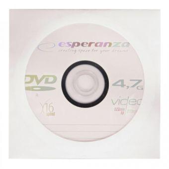 Диск DVD+R esperanza 4,7 Гб конверт