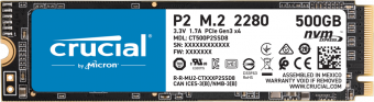 Твердотельный накопитель SSD M.2 PCIe G3 1x4 (NVMe) 500Гб Crucial P2 (CT500P2SSD8)