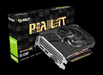 Видеокарта Palit GeForce GTX 1660 SUPER StormX 6Гб GDDR6 (NE6166S018J9-161F)