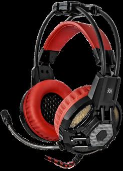 Наушники с микрофоном игровые Defender Lester 64541 (2x3pin + USB)