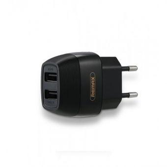 СЗУ с 2 USB выходами REMAX Flinc Series RP-U29 ток зарядки 2,1А (черное)