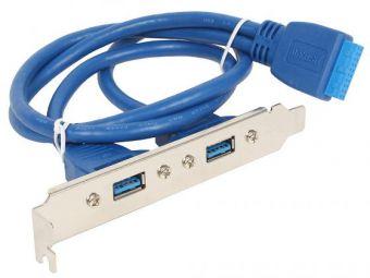 Кабель с планкой USB 3.0 2 port в корпус