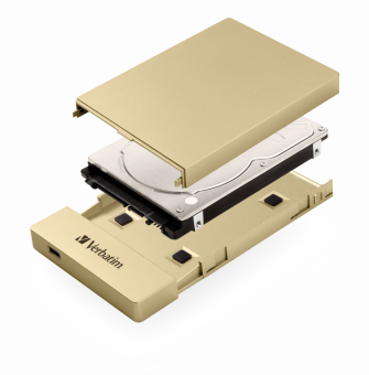 "Контейнер для HDD 2,5"" Verbatim USB Type C Gold (53104)"