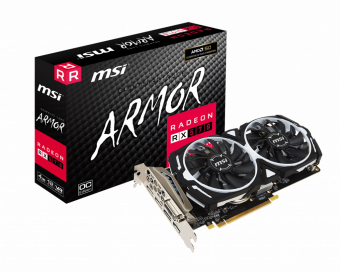 Видеокарта MSI Radeon RX 570 ARMOR 4G OC 4Гб GDDR5 (912-V341-290)