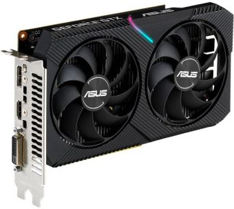 Видеокарта ASUS Dual GeForce GTX 1650 MINI OC 4Гб GDDR6 (DUAL-GTX1650-O4GD6-MINI)
