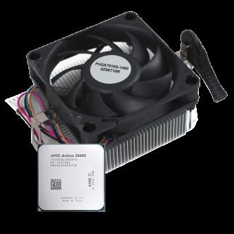 Процессор AMD Athlon 3000G (2C/4T, 3,5 ГГц, 35W, Vega 3, MPK) YD3000C6FHMPK