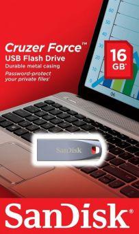 Накопитель USB2.0 Flash 16Гб SanDisk Cruzer Force (SDCZ71-016G-B35)