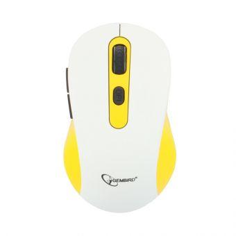 Мышь беспроводная Gembird MUSW-221-Y (1600 dpi, 1xAA)