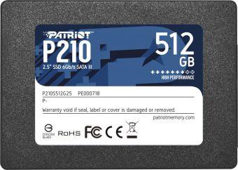 """Твердотельный накопитель SSD 2,5"""" 512Гб Patriot P210 (PE000718-P210S512G25)"""