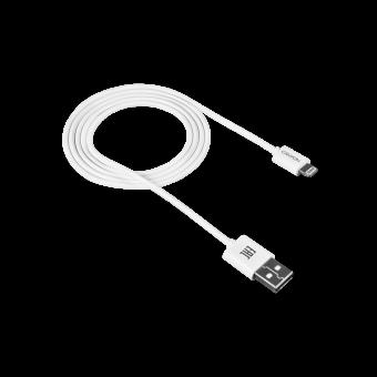 Кабель Canyon Lightning to USB 1 метр белый (CNE-CFI1W)