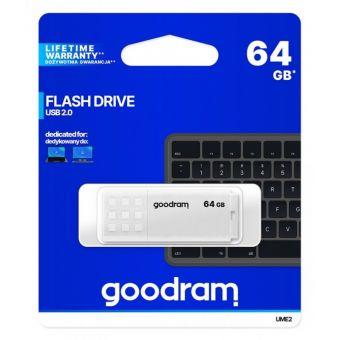 Накопитель USB 2.0 Flash Drive 64Gb GOODRAM UME2 White [UME2-0640W0R11]