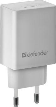 Сетевое зарядное устройство Defender EPA-10 (1xUSB, 5V/2,1A) 83549