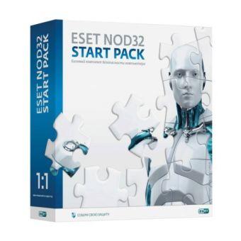 ПО Антивирус ESET NOD32 Start Pack-базовый комплект безопасности компьютера, лицензия на 1 год
